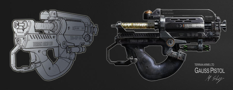 Gauss Pistol by dfacto