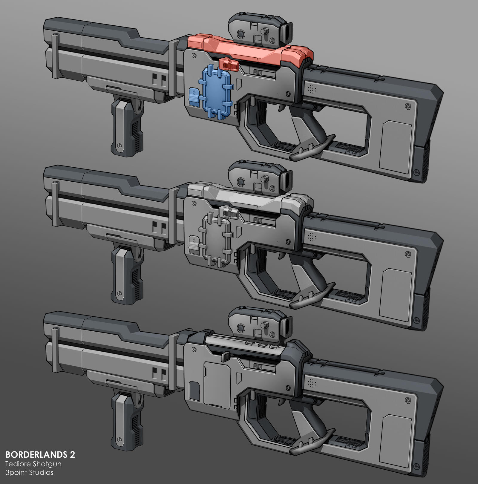 Tediore Shotgun by dfacto on DeviantArt