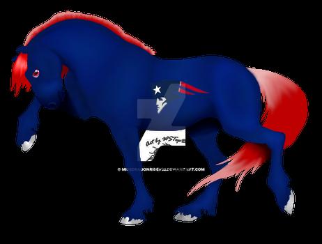 Patriots Football Horse
