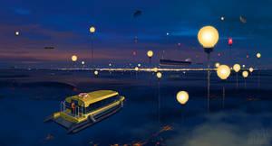City P. Streetlights by alexandreev