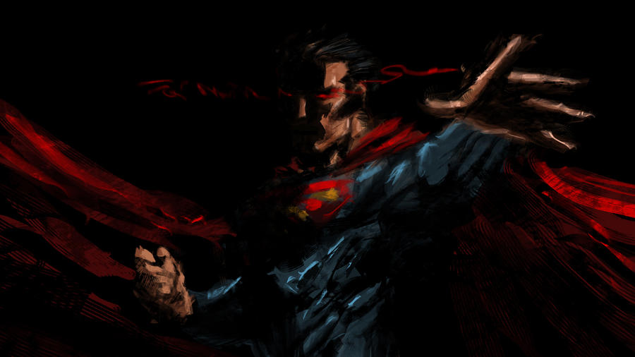 dark superman by Eliaskhasho