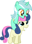 Filly Lyra and Bon-bon Vector
