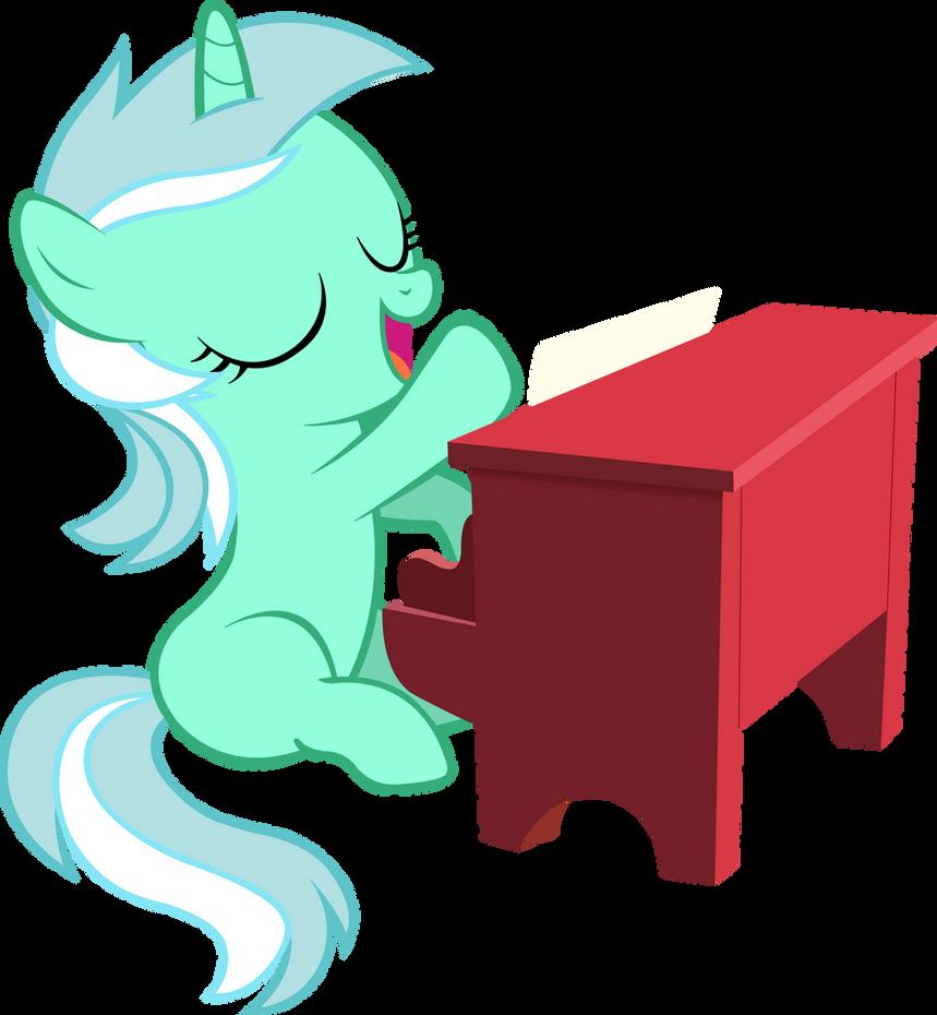 Filly Lyra Playing Piano (Vector)