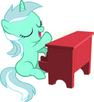 Filly Lyra Playing Piano (Vector)