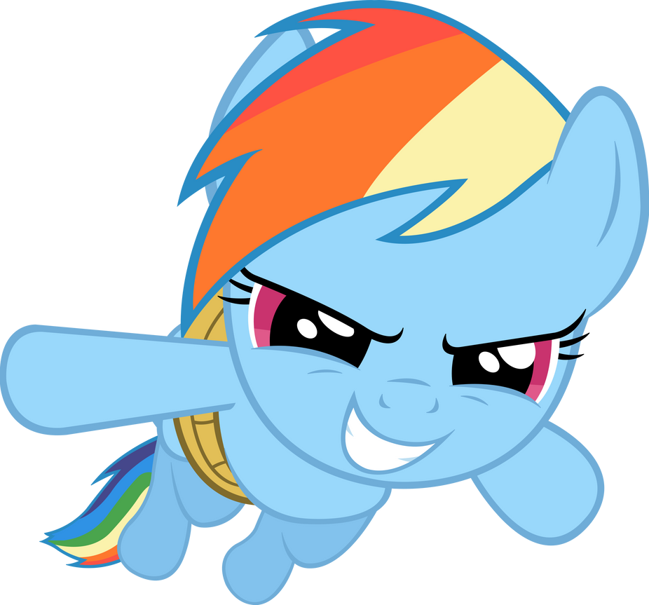 (No wings? No problem) Rainbow Dash Vector by ArtPwny