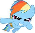 (No wings? No problem) Rainbow Dash Vector