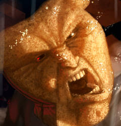 Powdered Toast Man - Face Detail