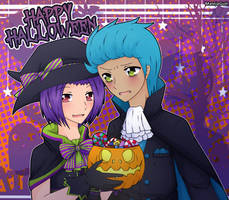 Halloween (BonxBonnie) by MalejagutiTheCat