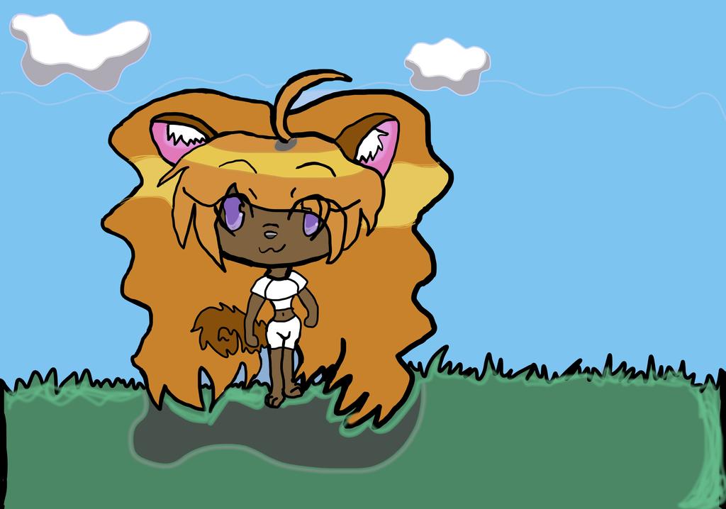 Miss half kitty half dog girl by celebi64
