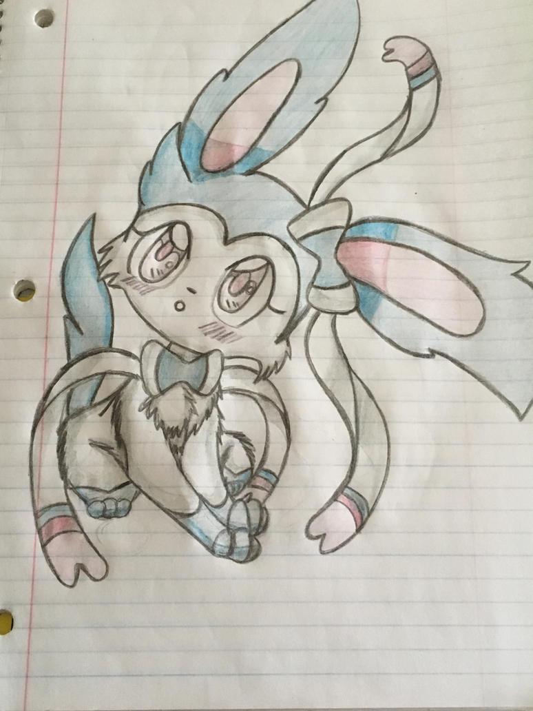Curious shiny slyveon by celebi64
