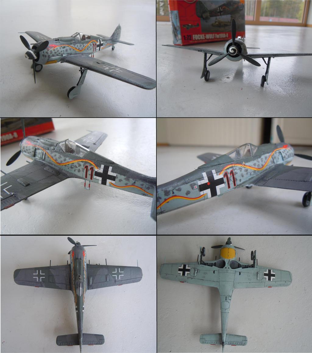 Focke wulf 190 A-8 Airfix by warrior1944
