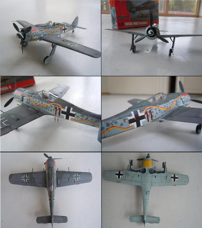 Focke wulf 190 A-8 Airfix by warrior1944
