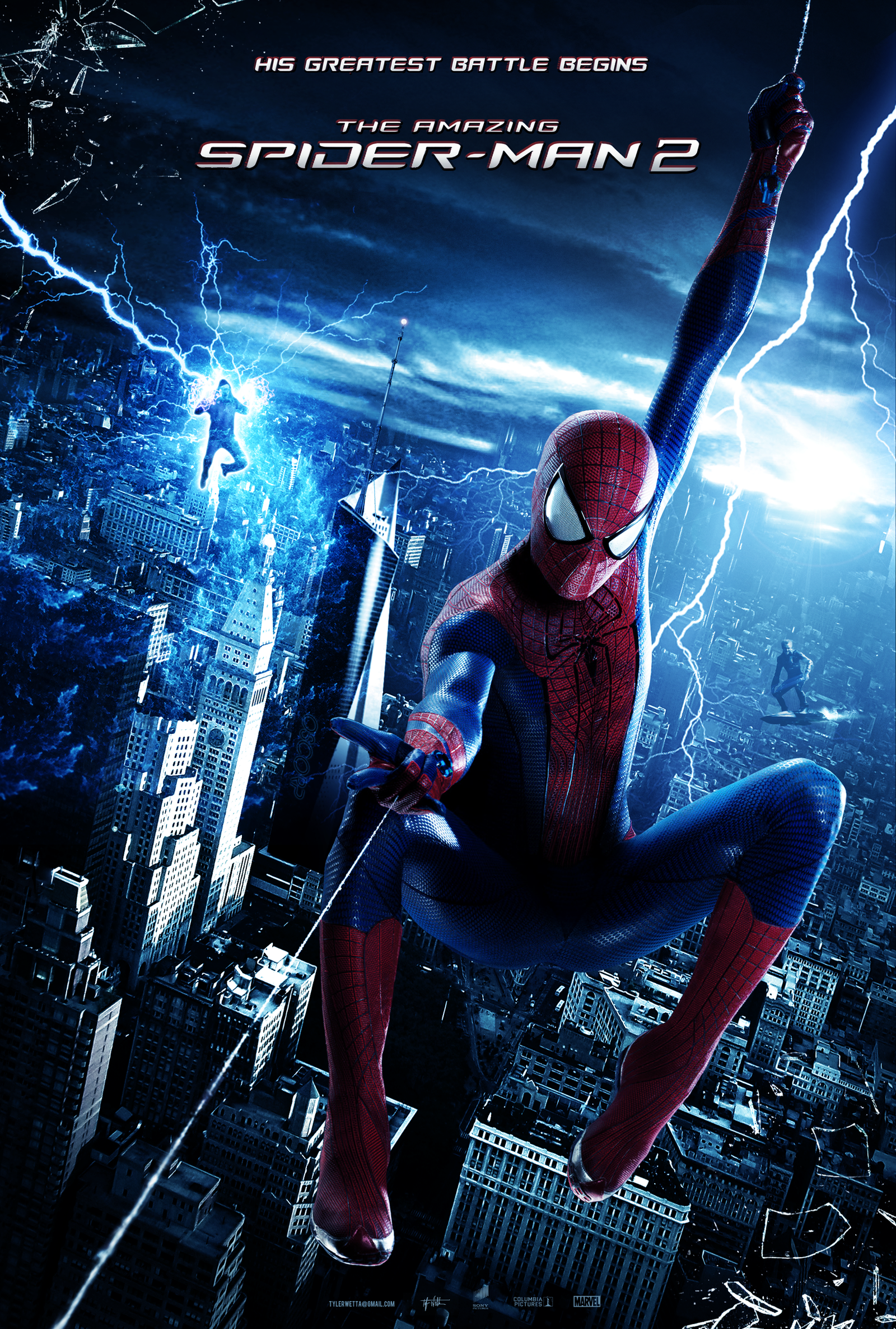 the amazing spider man 2 poster by tyler wetta on deviantart. Black Bedroom Furniture Sets. Home Design Ideas