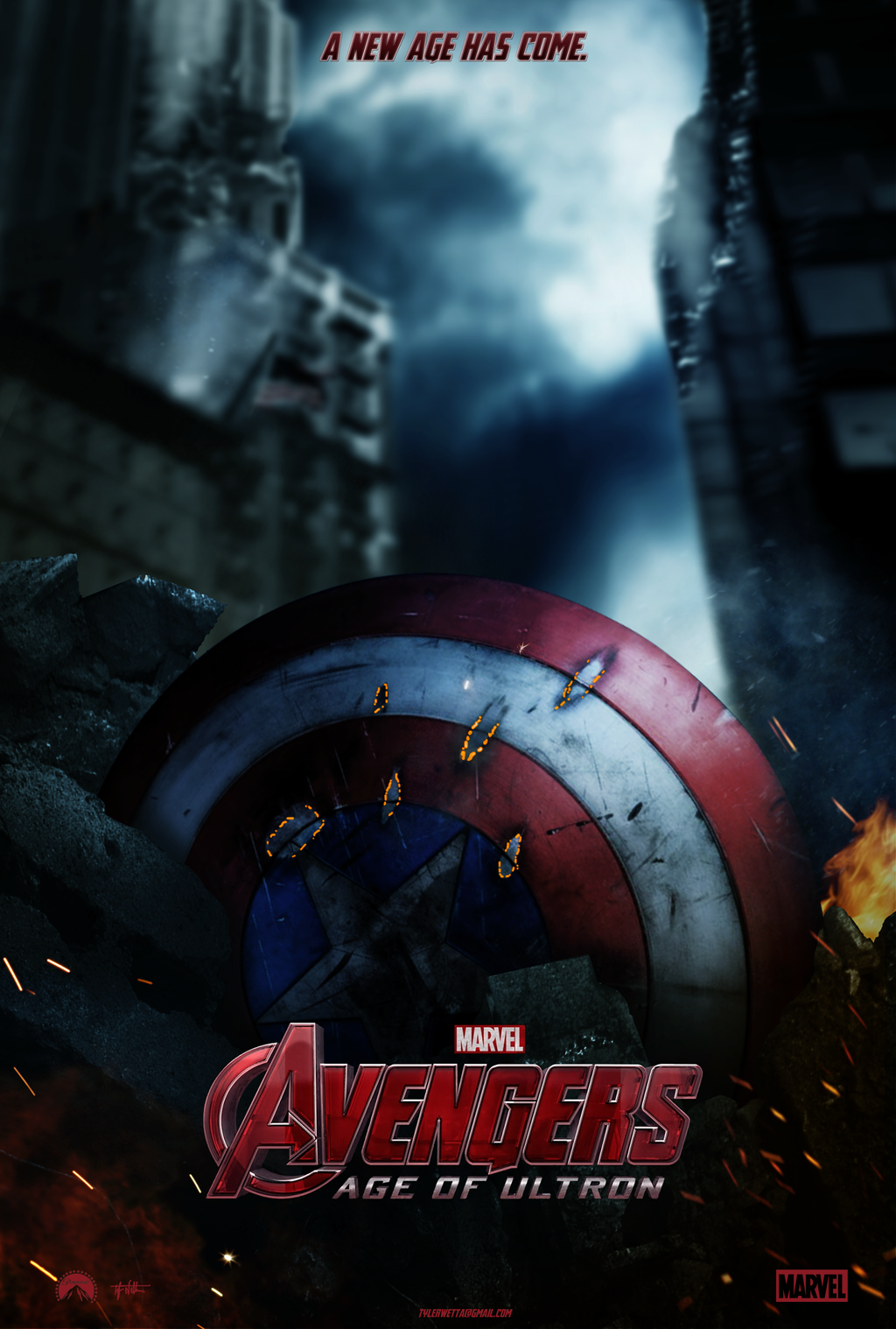 Avengers: Age of Ultron Movie Poster -Capt America by ...