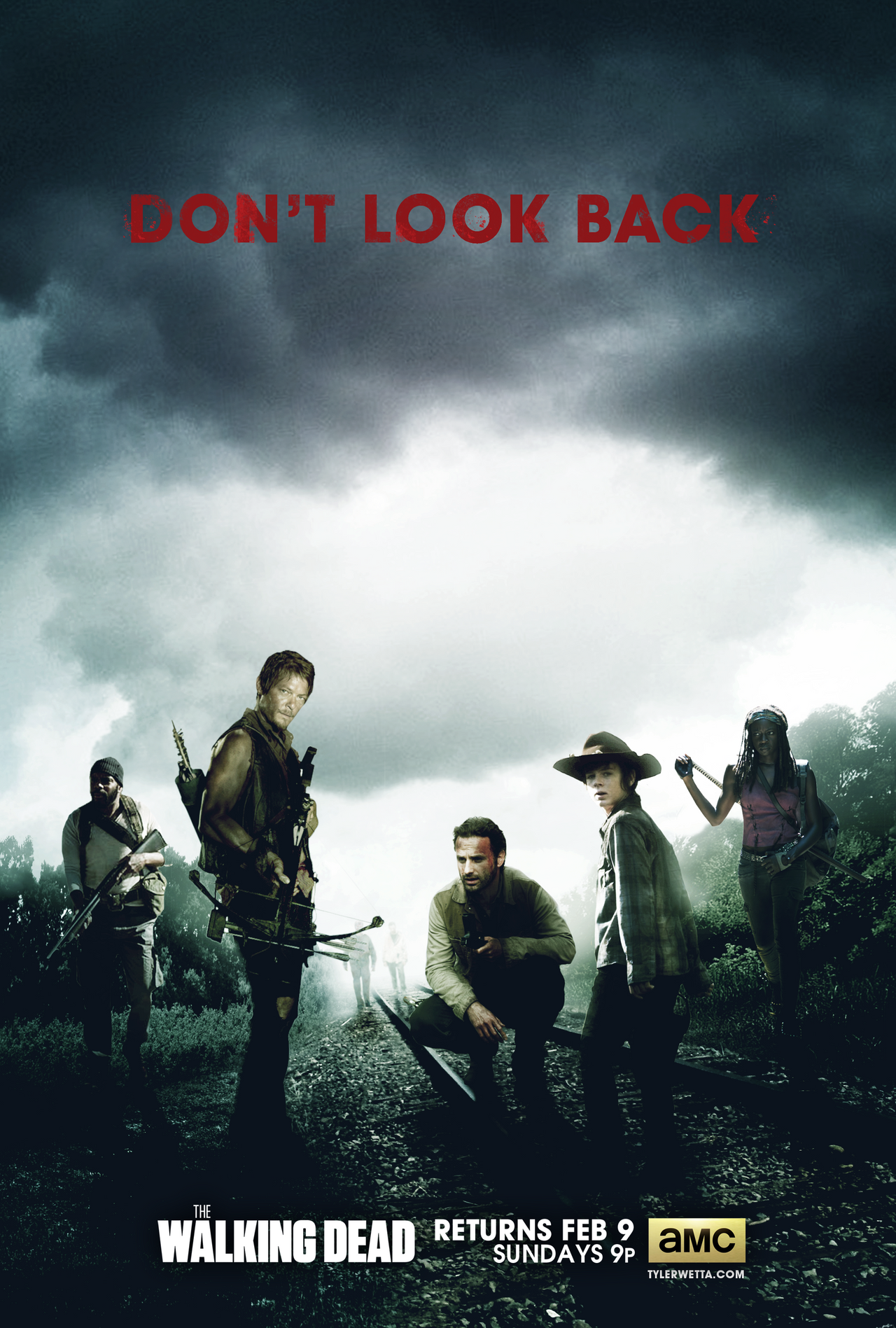 The Walking Dead Poster - Season 4 by tyler-wetta on DeviantArt