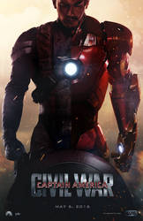 Captain America: Civil War Movie Poster by tyler-wetta