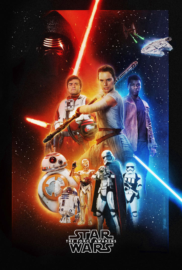 Star Wars VII Poster by AncoraDesign