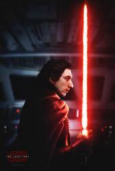 The Last Jedi movie poster - Kylo by tyler-wetta