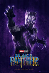 Black Panther Poster V1 by tyler-wetta