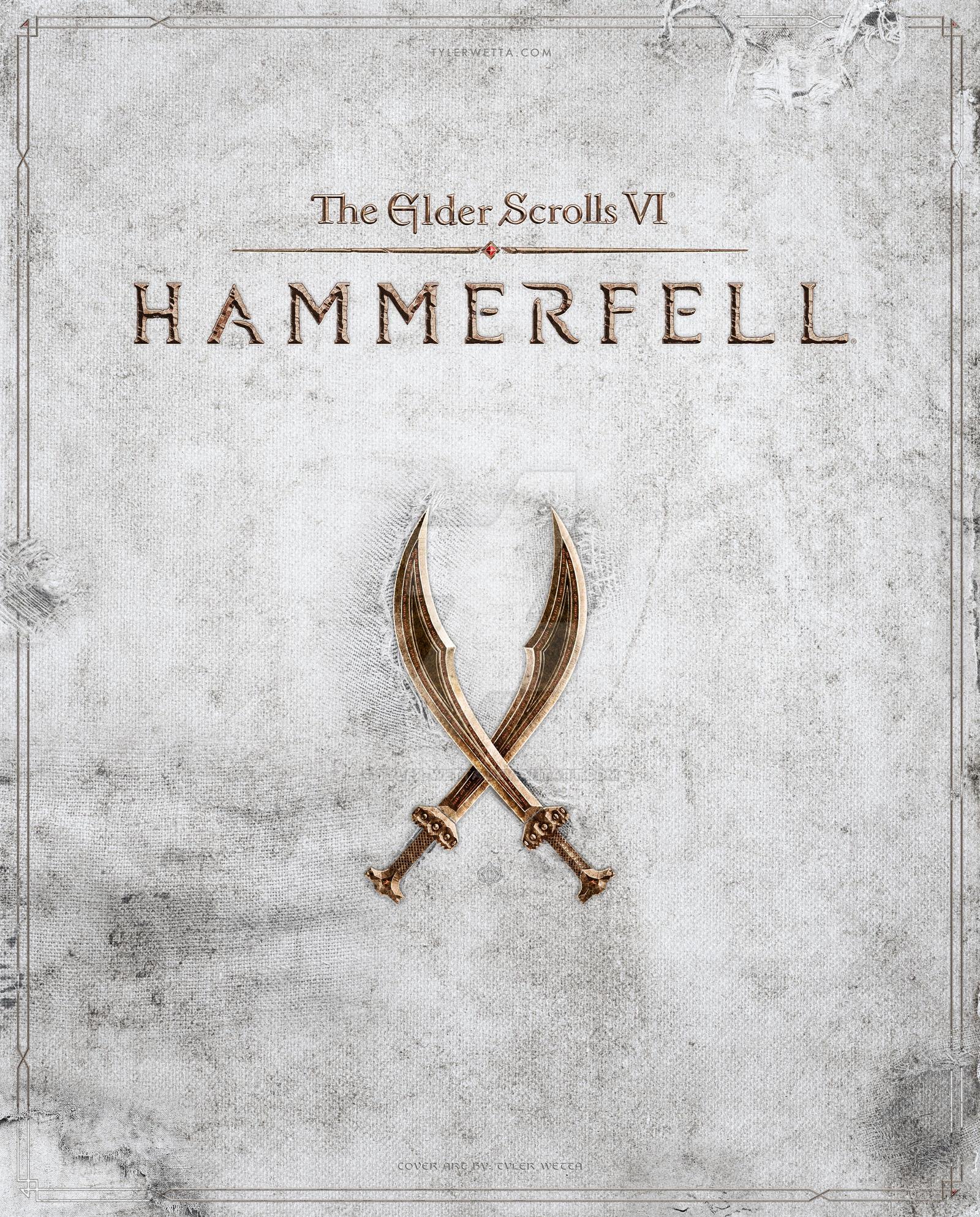 The Elder Scrolls VI: Hammerfell Cover Art by tyler-wetta