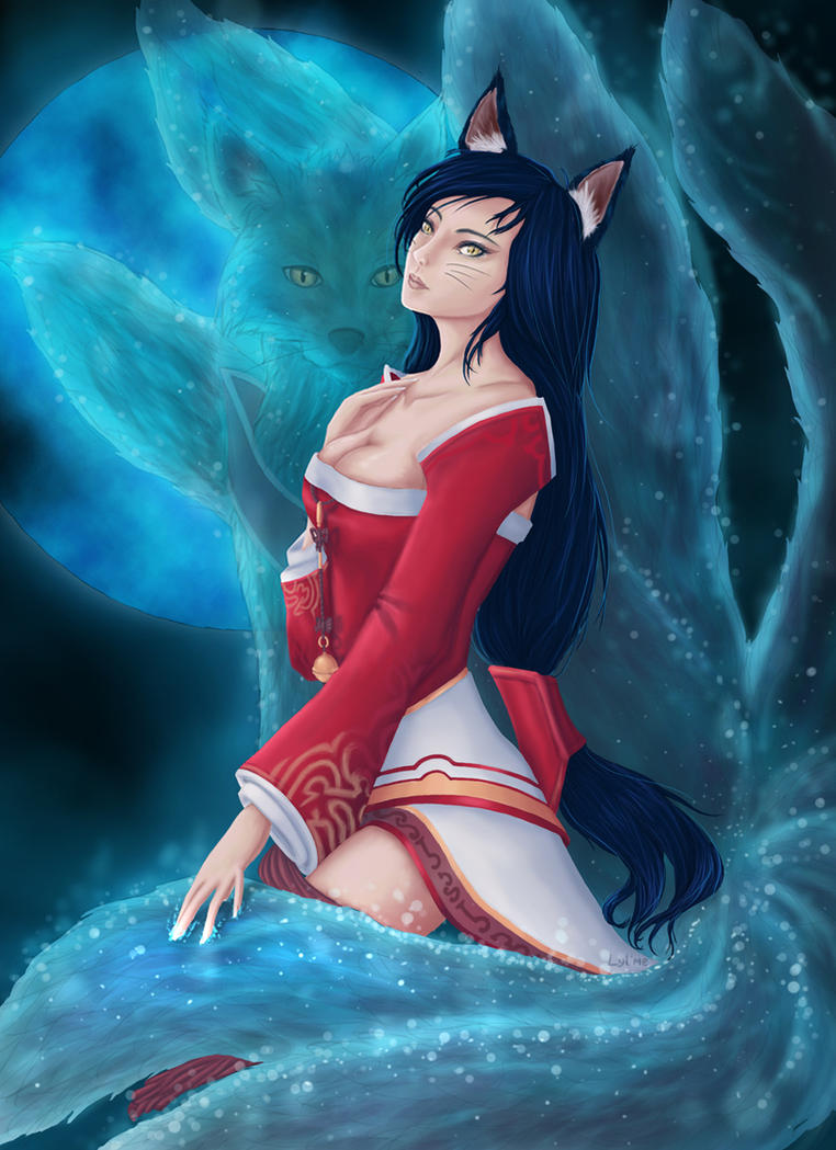 LoL Ahri Fox Spirit by Lylme