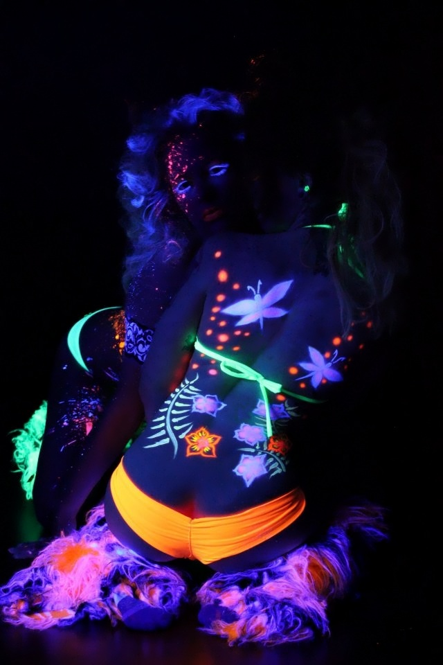 Blacklight Body Paint 2 By OnCallArtistry