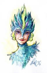 Toothiana: Watercolor Portrait