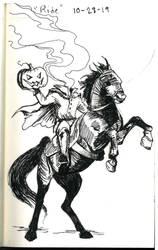 Inktober 10-28-19 'Ride'
