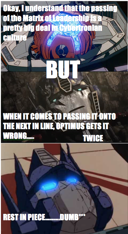 Prime Gets it Wrong.... by starscream0666