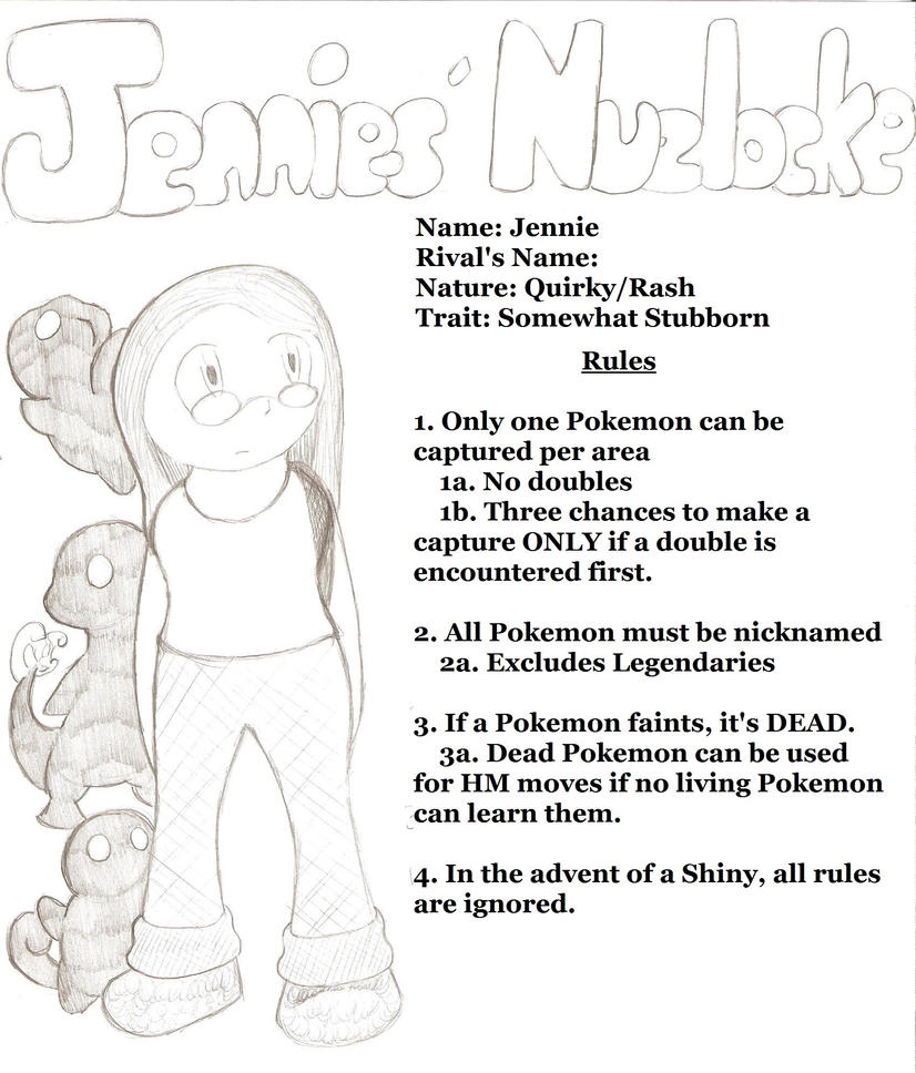 Jennies' Nuzlocke: Cover by HyperSonicFire15