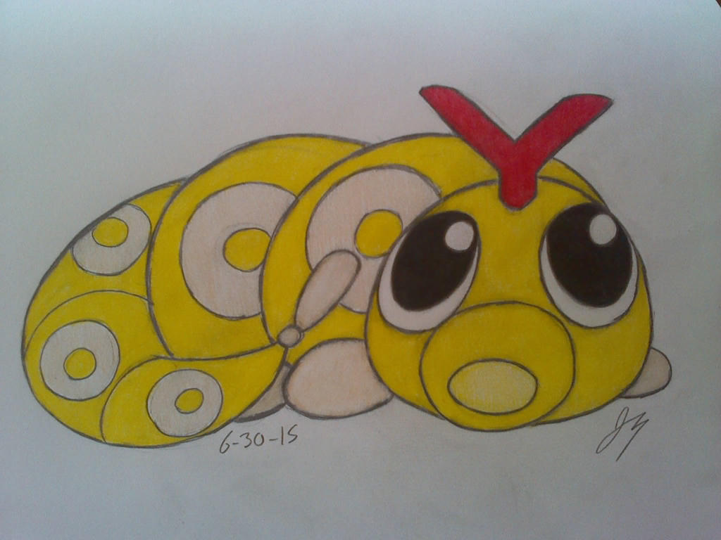 Shiny Caterpie by HyperSonicFire15
