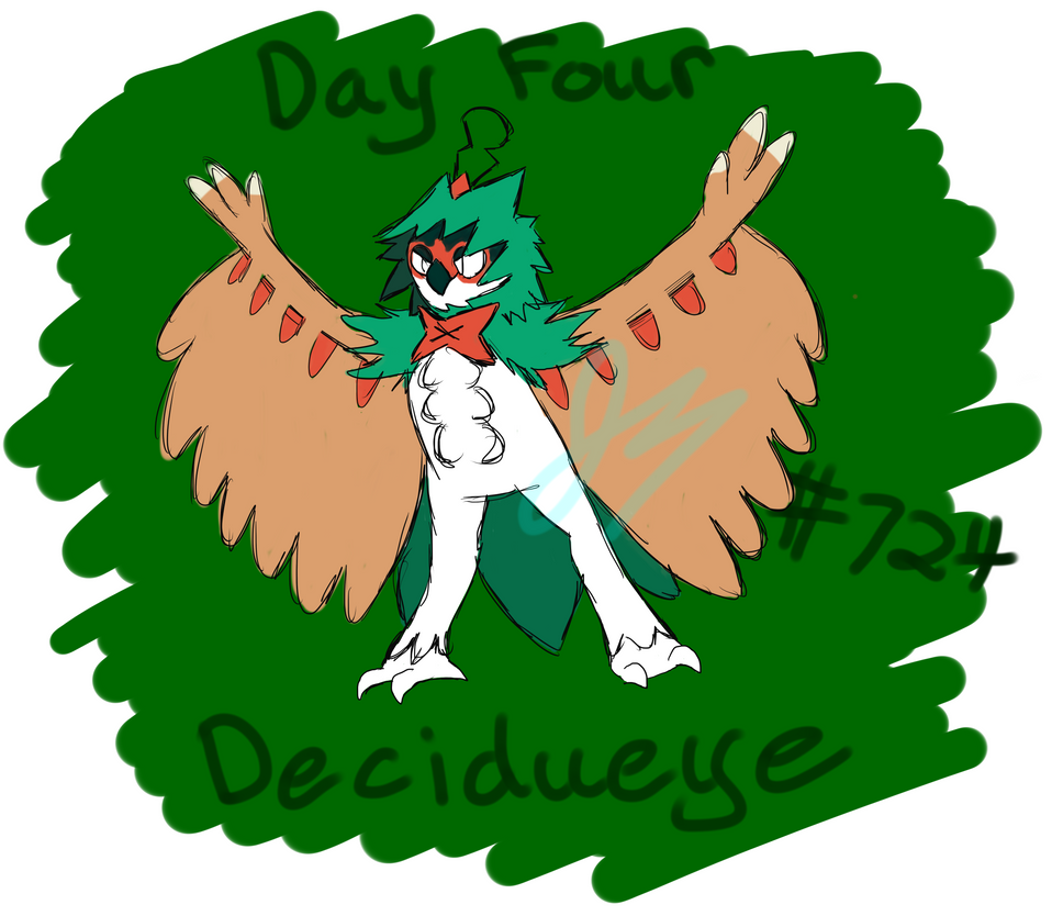 Pokecember 4: Fave Ghost Type: Decidueye by HyperSonicFire15