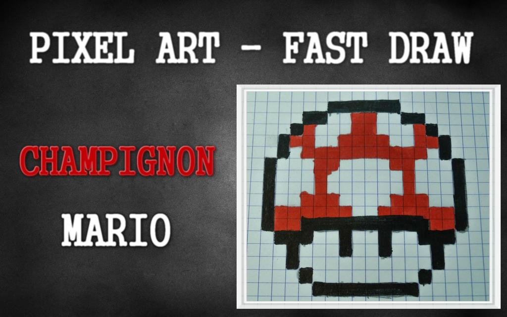 Pixel Art Mushroom Mario Youtube Video By Easysarts On