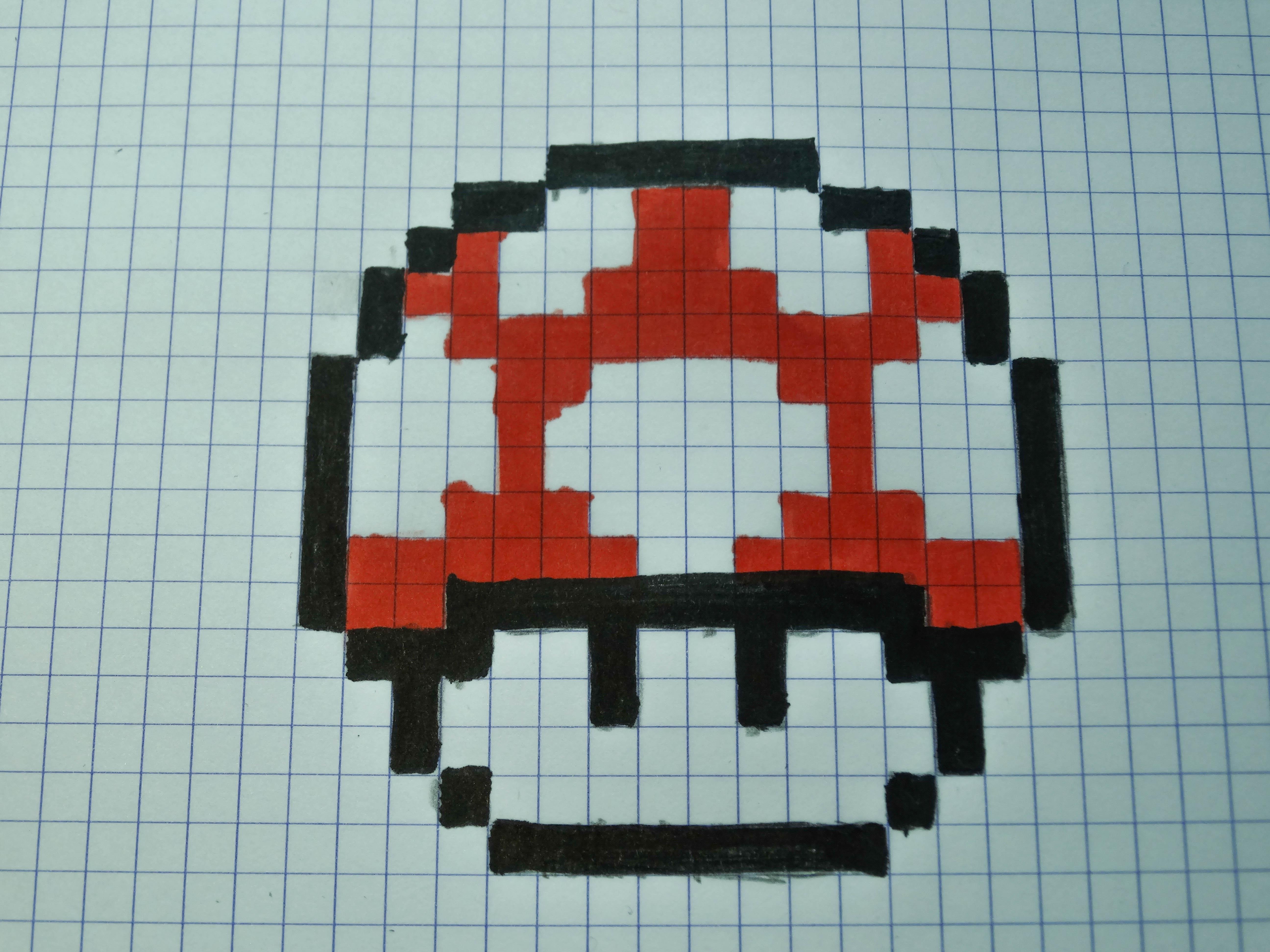 mario mushroom pixel art 2015 by easysarts on deviantart