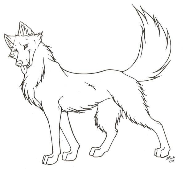 dog template line art by rabastan on deviantart