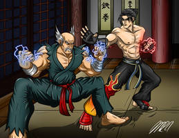 Battle for the Mishima Zaibatsu by greytei