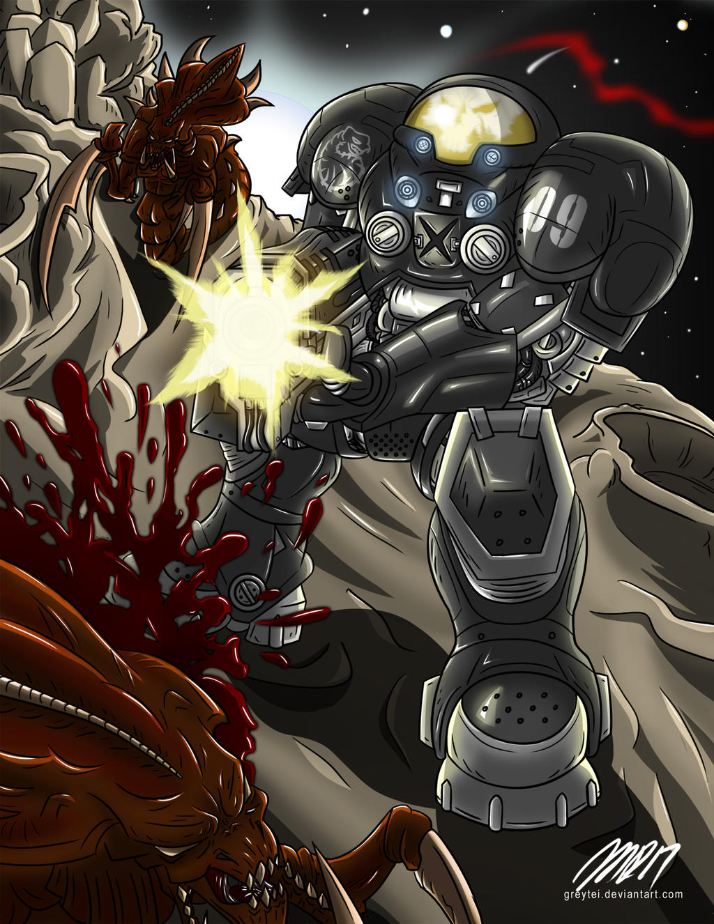 Starcraft Jim Raynor by greytei