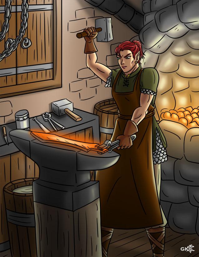 Blacksmith by greytei