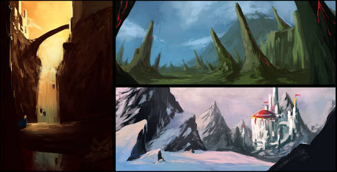Landscape Speedpaints by Alrynnas
