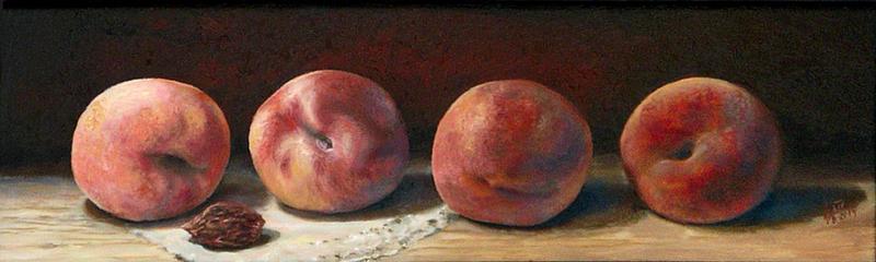 Four peach (oil) by alartstudio