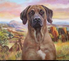 Rhodesian Ridgeback. July 2018. Oil on canvas by alartstudio