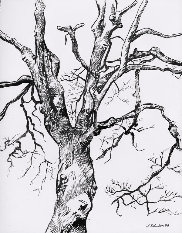 It's just a graphic of Smart Tree Pen Drawing