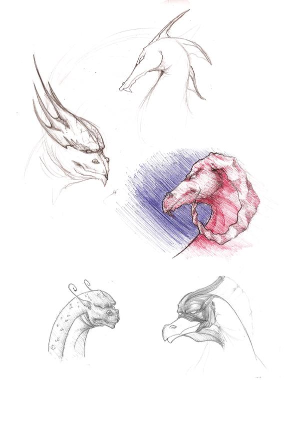 Bocetos Dragones by Na-V