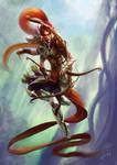 Six arms Elf Archer