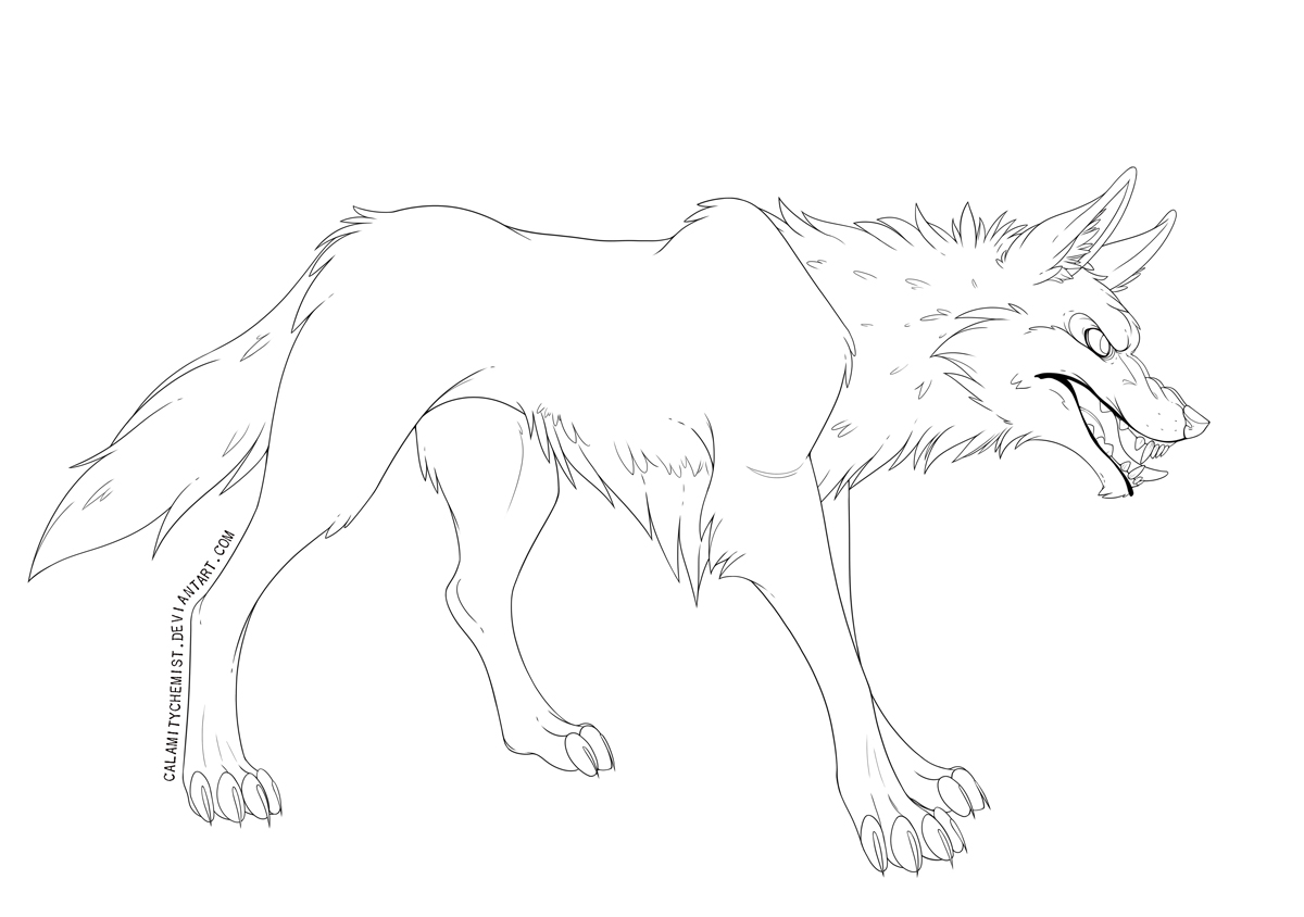 Snarl -  Lineart by CalamityChemist