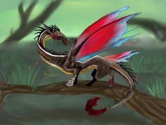 Fae Dragon by Rosela-Kitsuna