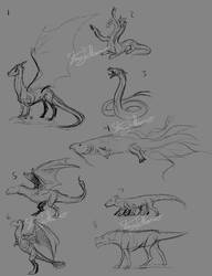 Dragons and Relatives by Rosela-Kitsuna