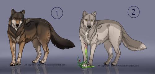 Wolf Adoptables  |Closed| by Rosela-Kitsuna