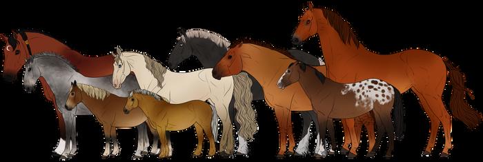 Horses of Hyrule by Rosela-Kitsuna