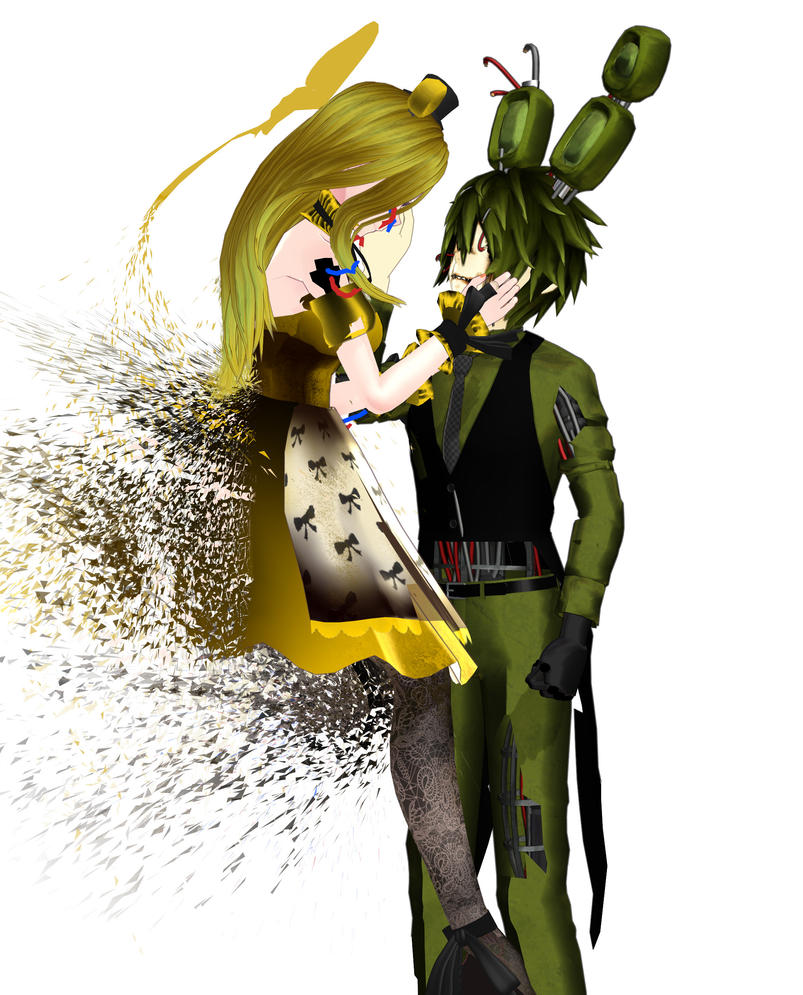 [MMD X Fnaf: GoldTrap] Broken Together By NightWitch14 On
